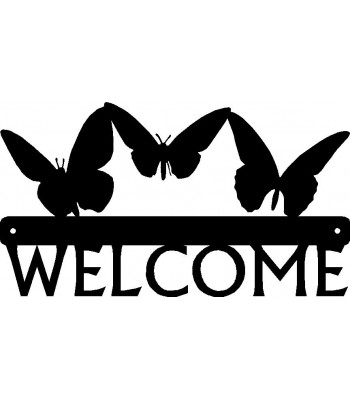 Butterflies Welcome Sign