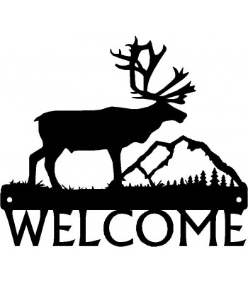 Caribou Welcome Sign