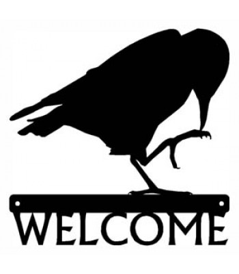 Crow/ Raven Bird Welcome Sign