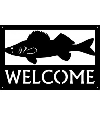 Walleye Fish Welcome Sign 17x11
