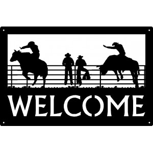 Bull Rider  Welcome Sign 17x11