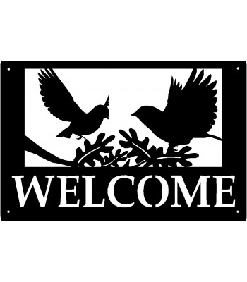 Birds in Flight Nature Welcome Sign 17x11