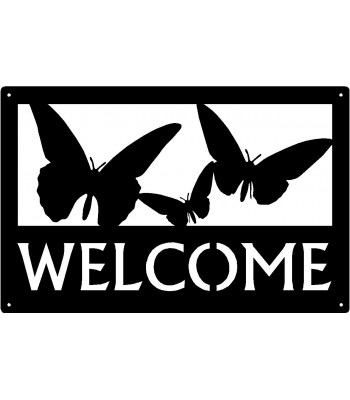 Butterflies Nature Welcome Sign 17x11