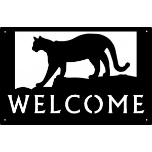 Cougar Welcome Sign 17x11