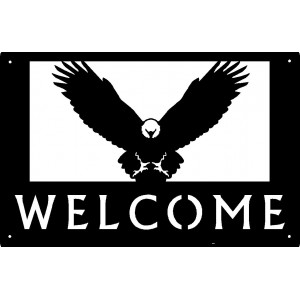 Eagle Flying Welcome Sign 17x11