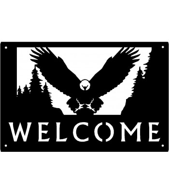 Bald Eagle #93 Welcome Sign 17x11