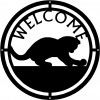 Cat #01 Round Welcome Sign