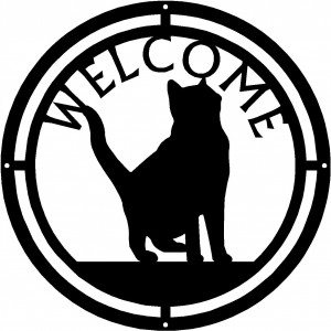 Cat #13 Round Welcome Sign