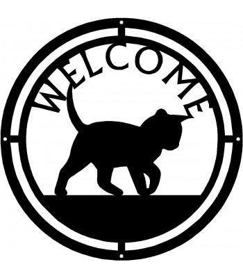 Cat #14 Round Welcome Sign