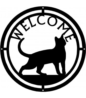 Cat #17 Round Welcome Sign