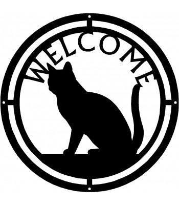 Cat #03 Round Welcome Sign