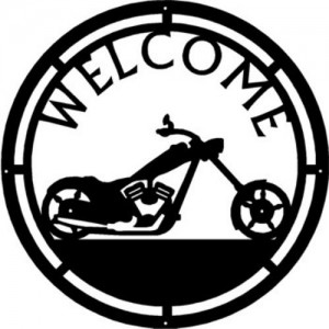 Motorcycle 2 - Round Welcome Sign