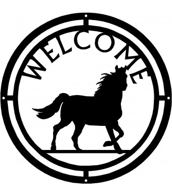 Horse #07 Round Welcome Sign