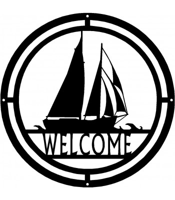 Sail Boat Welcome Sign