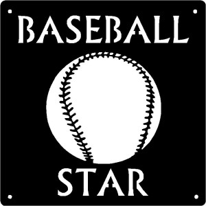 Baseball Star - Sport Wall Art Sign