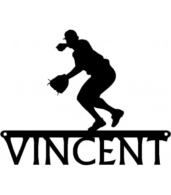 Baseball Player #6 Pitcher - Personalized Sports Sign