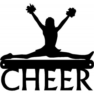 Cheerleader in a Split - Sport Signs & Silhouettes Wall Art
