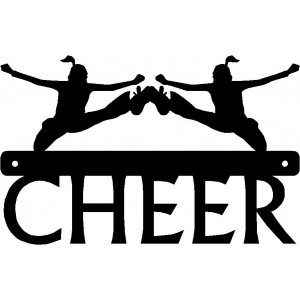 Cheer Kick Duo - Sport Silhouettes Wall Art