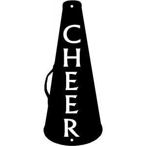 Cheer Cone - Sport Silhouettes Wall Art