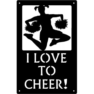 I Love to Cheer Cheerleader - Sport Silhouettes Wall Art