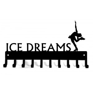 Ice Dreams Figure Skating Medal Rack Display