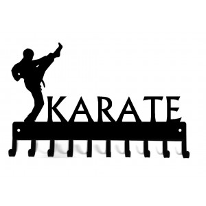 Karate High Kick - Medal Rack Display