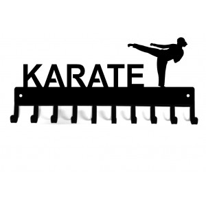 Karate side kick (Female) - Medal Rack Display
