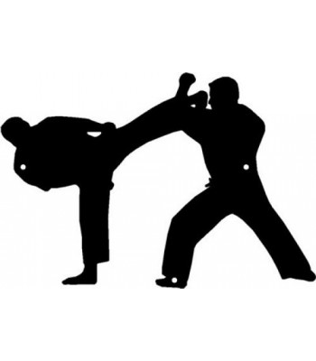 Karate Sparring Partners - Sport Silhouettes Wall Art