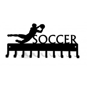 Soccer Goalie (Male) - Medal Rack Display