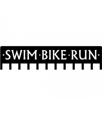 Triathlon SWIM BIKE RUN - Medal Rack Display