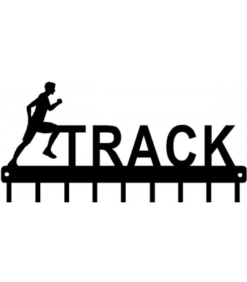 Track Running Male Figure - Medal Rack Display
