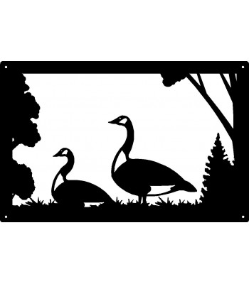 Canadian Geese  Wall Art Sign  17x11