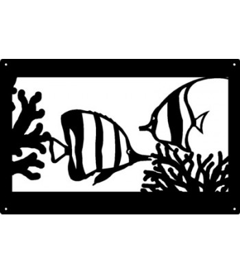 Tropical Fish Ocean Wall Art Sign  17x11