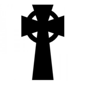 Plain Celtic Cross #3  Religious Wall Art  Room Decor