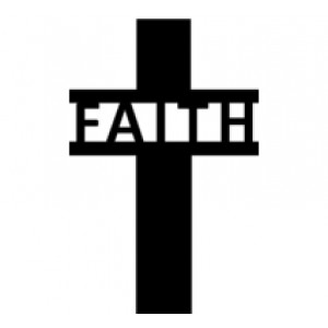 "Cross #7 ""FAITH""  Religious Wall Art  Room Decor"