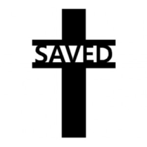 Cross #9 SAVED Religious Wall Art  Room Decor